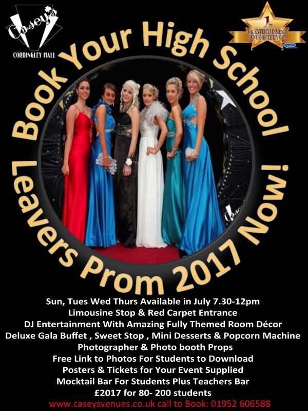 high school prom poster
